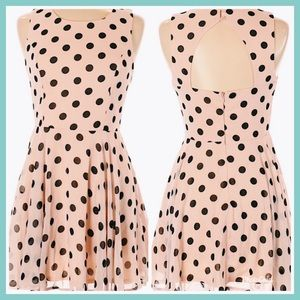 Pastel Pink Polka Dot  Summer Spring Easter Dress